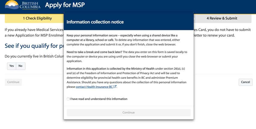 how to apply for msp