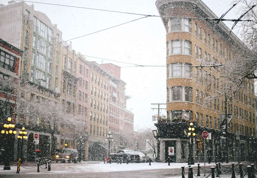 gastown vancouver snow