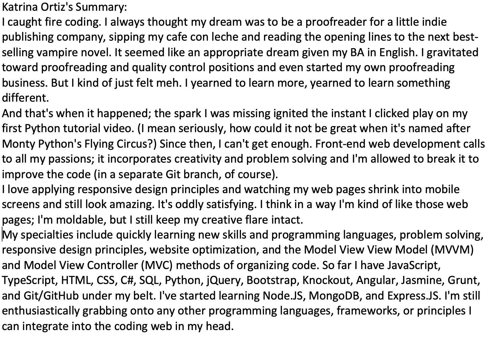 how to write a summary for a linkedin profile