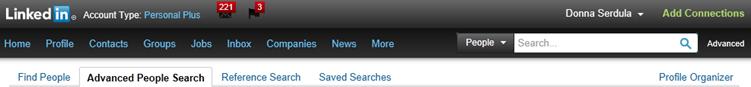 linkedin old search bar