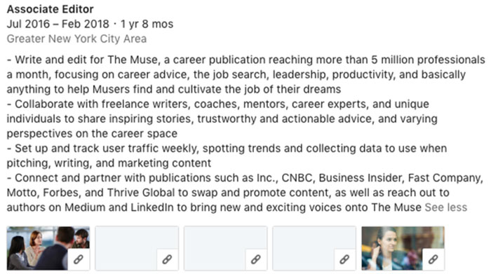 linkedin showcase your experience recommendations